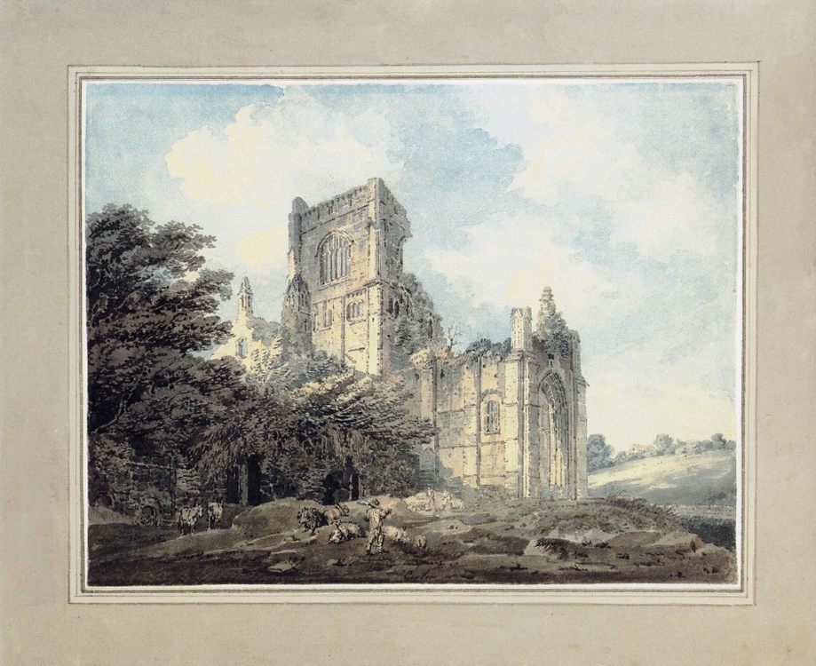 Kirkstall Abbey, Yorkshire, from the South-East (after James Moore) :: Thomas Girtin - Architecture фото