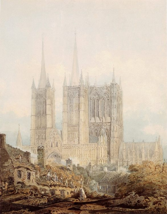 Lincoln Cathedral from the West :: Thomas Girtin  - Architecture фото
