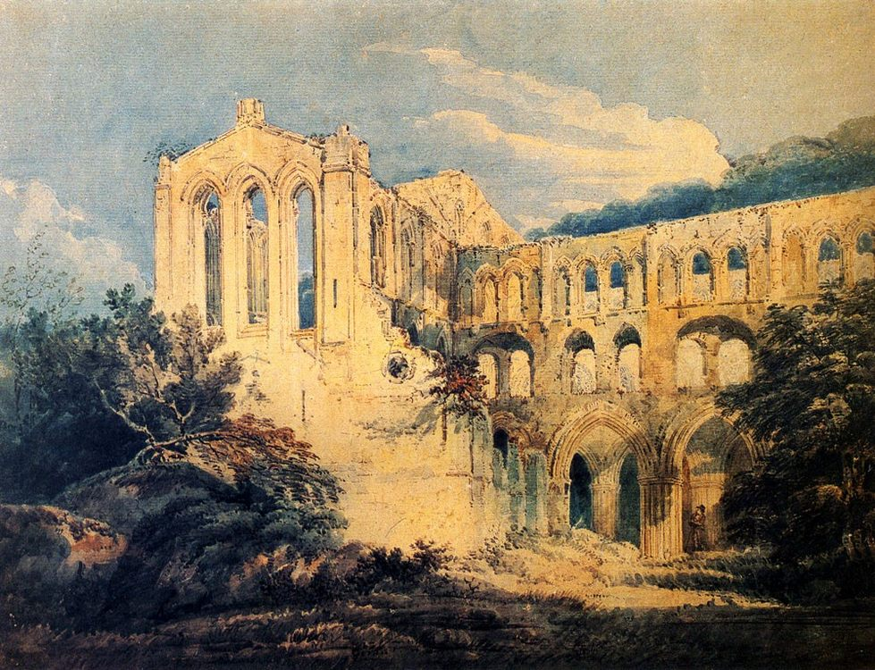 Rievaulx Abbey :: Thomas Girtin  - Architecture фото