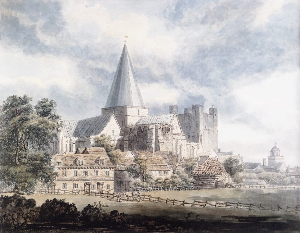Rochester Cathedral and Castle, from the North-East :: Thomas Girtin - Architecture фото