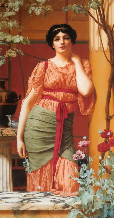 Nerissa :: John William Godward - Antique world scenes фото