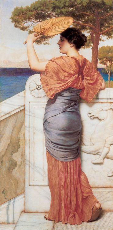 On the Balcony :: John William Godward - Antique world scenes фото