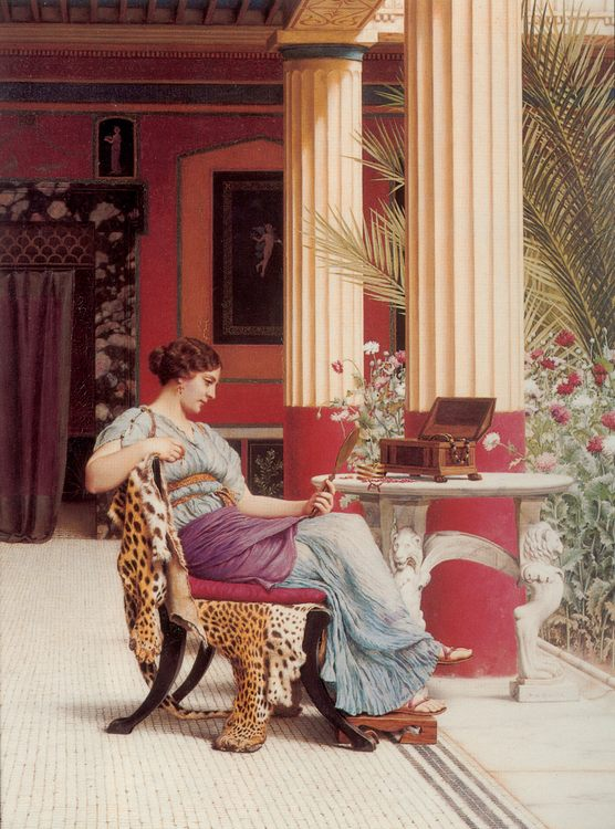 The Jewel Casket :: John William Godward - Antique world scenes фото