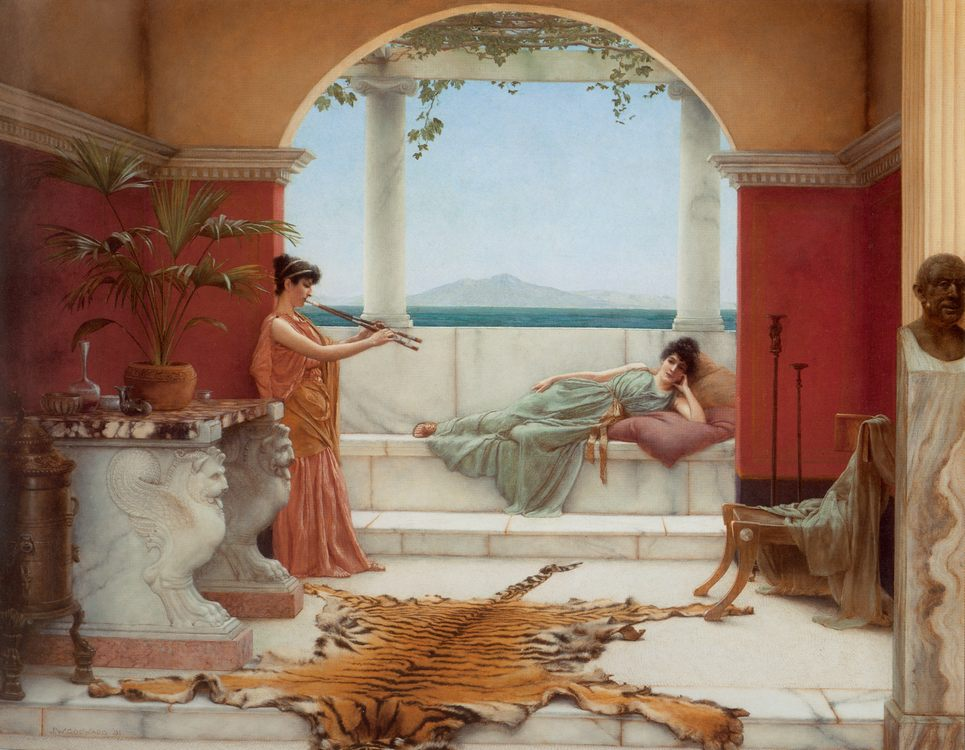 The Sweet Siesta of a Summer Day :: John William Godward - Antique world scenes фото