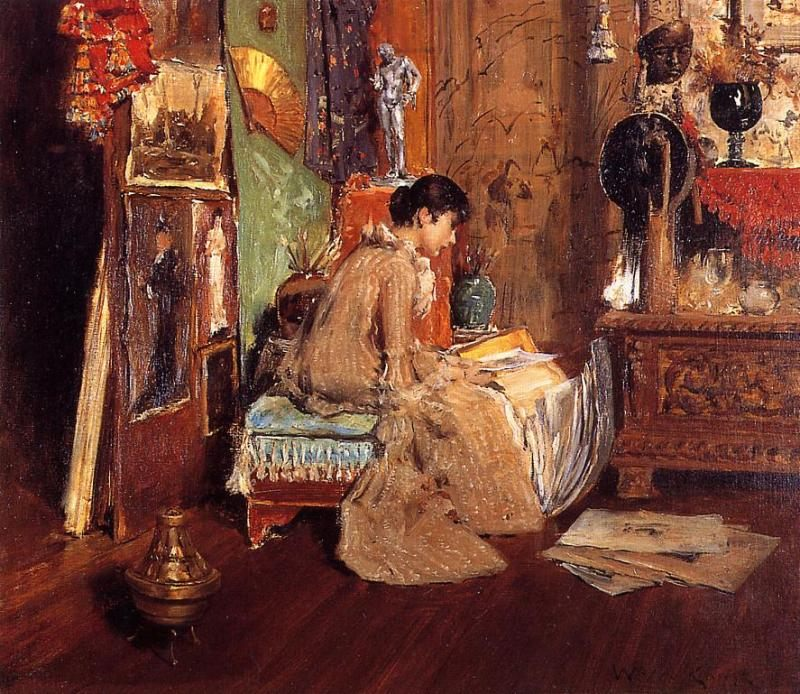 Connoisseur :: William Merritt Chase - Interiors in art and painting фото