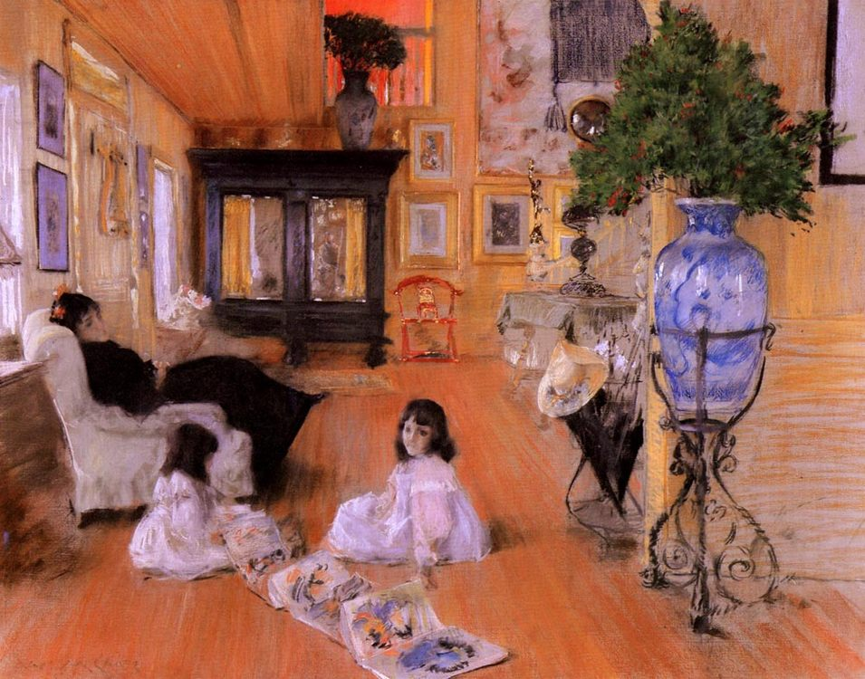 Hall at Shinnecock :: William Merritt Chase - Interiors in art and painting фото