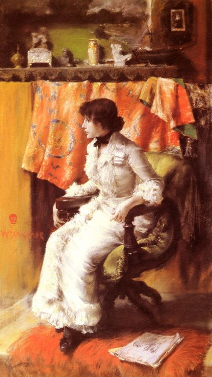 In the Studio (Virginia Gerson) :: William Merritt Chase - Interiors in art and painting ôîòî