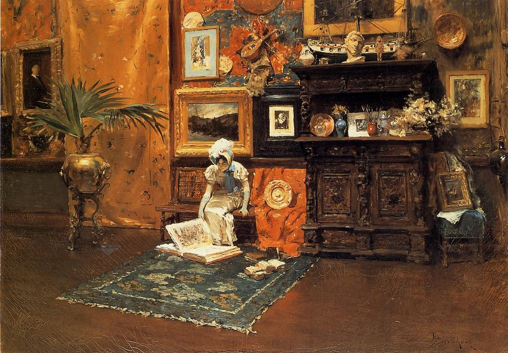 In the Studio :: William Merritt Chase  - Interiors in art and painting ôîòî