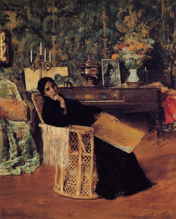 In the Studio :: William Merritt Chase - Interiors in art and painting фото
