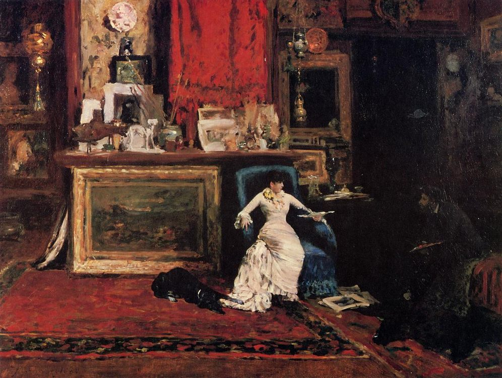 Interior of the Artist s Studio aka The Tenth Street  :: William Merritt Chase - Interiors in art and painting фото
