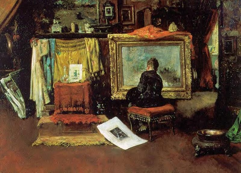The Tenth Street Studio :: William Merritt Chase - Interiors in art and painting фото