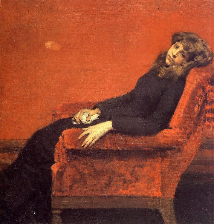 The Young Orphan, Study of a Young Girl :: William Merritt Chase  - Interiors in art and painting ôîòî