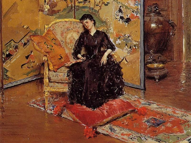 Weary :: William Merritt Chase - Interiors in art and painting фото