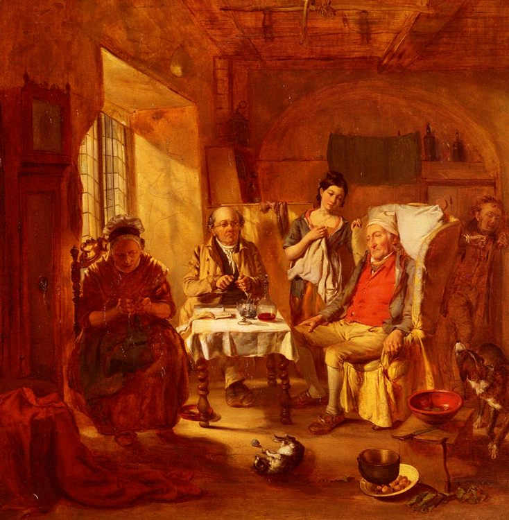 The Family Lawyer :: William Powell Frith - Interiors in art and painting фото