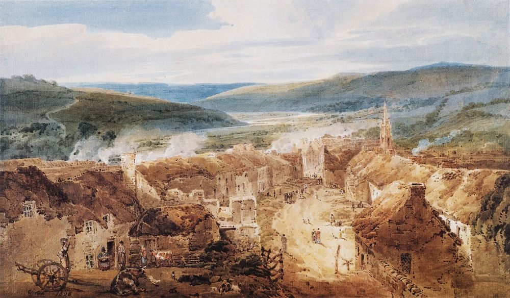 The Village of Jedburgh, Roxburghshire :: Thomas Girtin - Architecture ôîòî