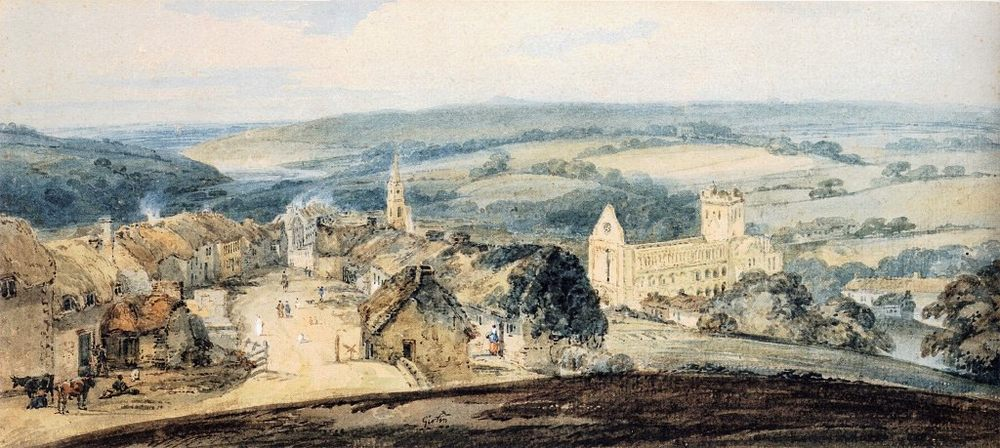 The Village of Jedburgh, Scotland :: Thomas Girtin - Architecture ôîòî