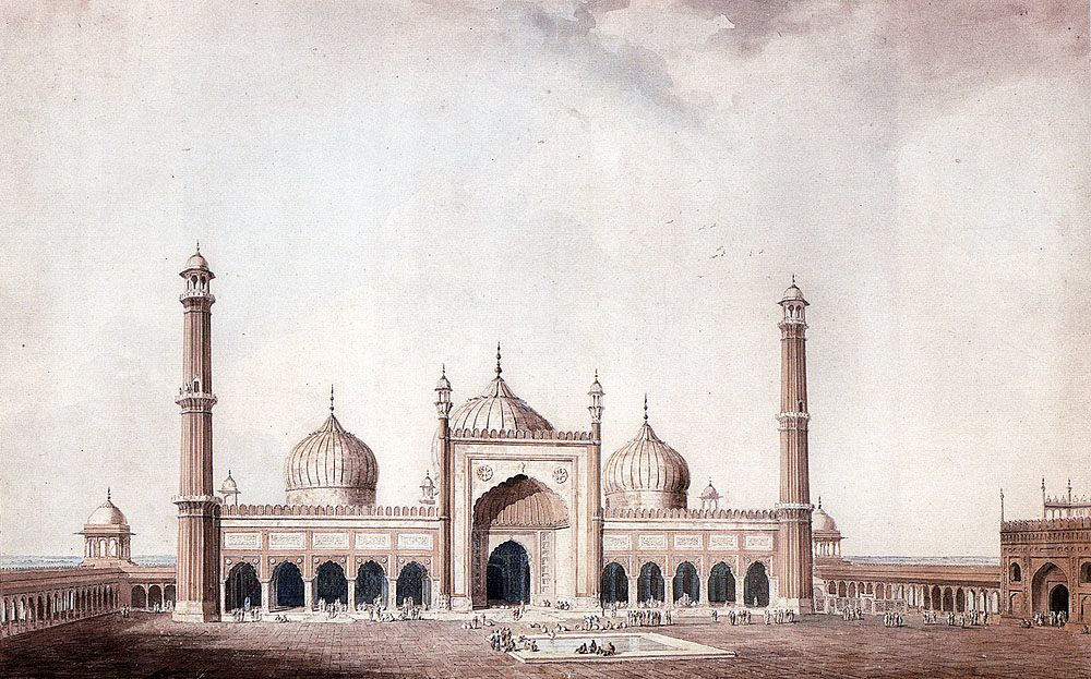 The Jama Masjid, Delhi ::  William Daniell, R. A. - Architecture фото