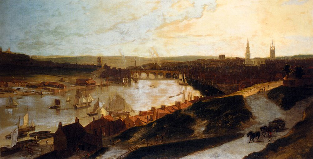 View Of Newcastle On The River Tyne From St Ann's :: William Daniell, R. A. - Architecture фото