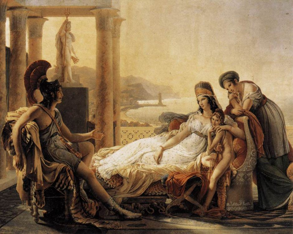 Dido and Aeneas :: Pierre-Narcisse Guerin - Antique world scenes фото