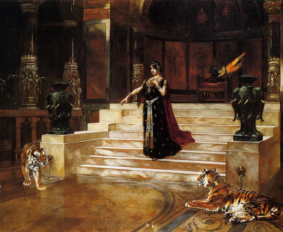 Salome and the Tigers :: Rudolf Ernst - Antique world scenes фото