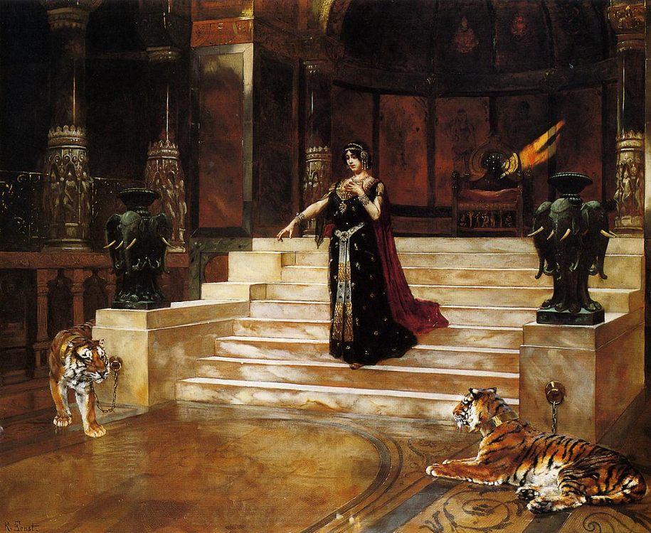 Salome and the Tigers :: Rudolf Ernst - Antique world scenes ôîòî