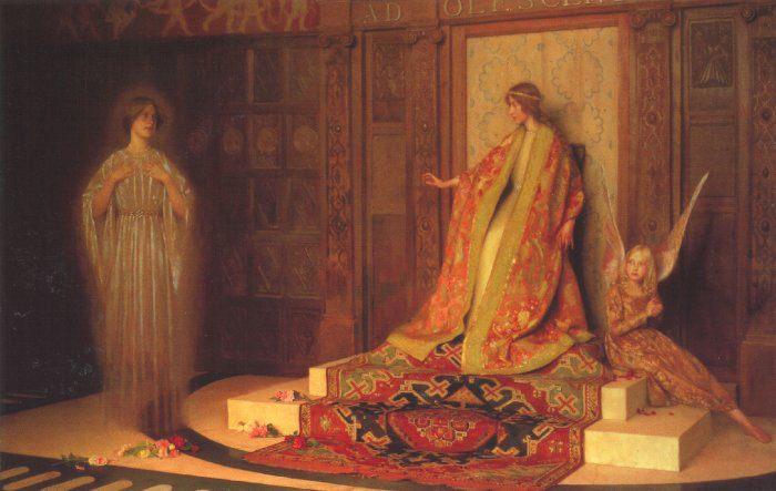 Dawn of Womanhood :: Thomas Cooper Gotch - Antique world scenes фото