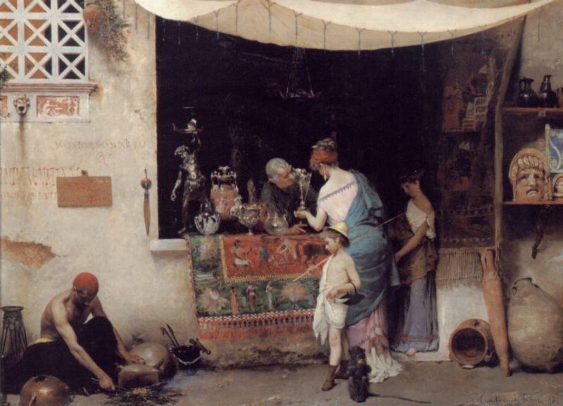 At the Antiquarian :: Vincenzo Capobianchi - Antique world scenes фото