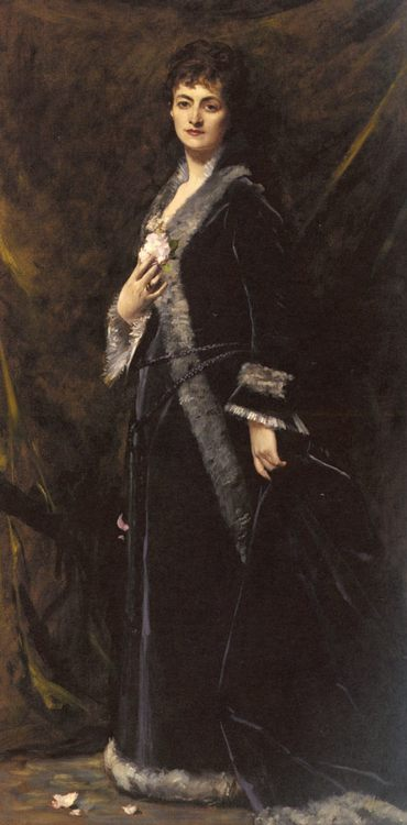 A Portrait of Helena Modjeska Chlapowski :: Charles Auguste Imile Durand - 6 woman's portraits hall ( The middle of 19 centuries ) in art and painting фото