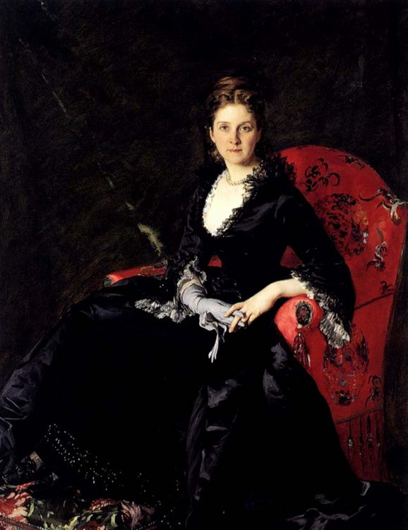 Portrait of Mme N. M. Polovtsova :: Charles Auguste Imile Durand - 7 female portraits ( the end of 19 centuries ) in art and painting ôîòî