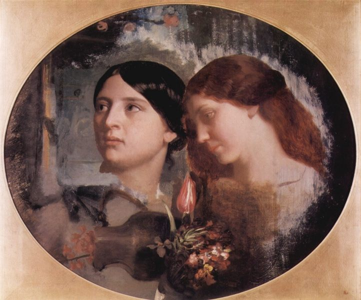 Two Women with a Bouquet of Flowers :: Charles Gleyre - 6 woman's portraits hall ( The middle of 19 centuries ) in art and painting фото