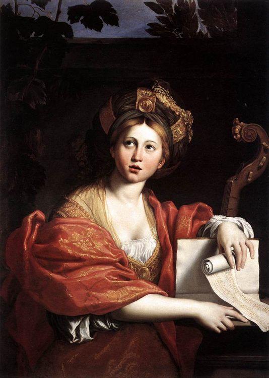 The Cumaean Sibyl :: Domenichino - 3 women portraits 17th century hall фото