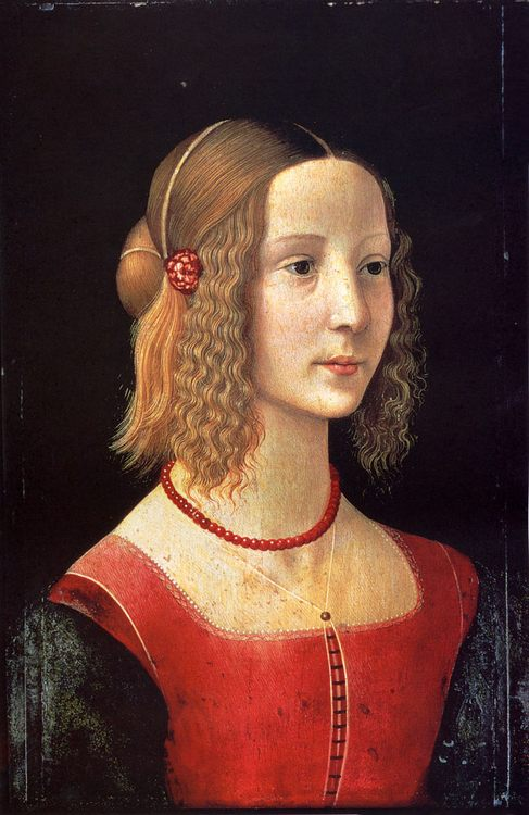 Portait Of A Girl  :: Domenico Ghirlandaio  - 1 women portraits 15th century hall ôîòî