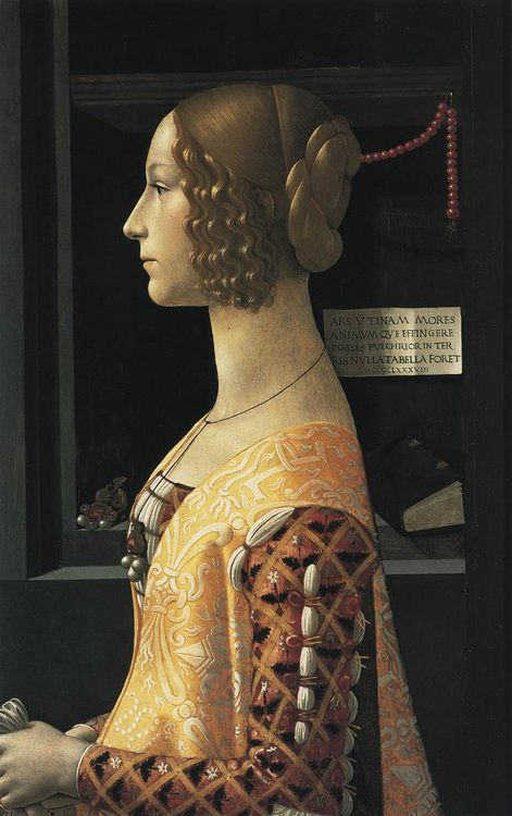 Portrait of Giovanna Tornabuoni :: Domenico Ghirlandaio - 1 women portraits 15th century hall ôîòî
