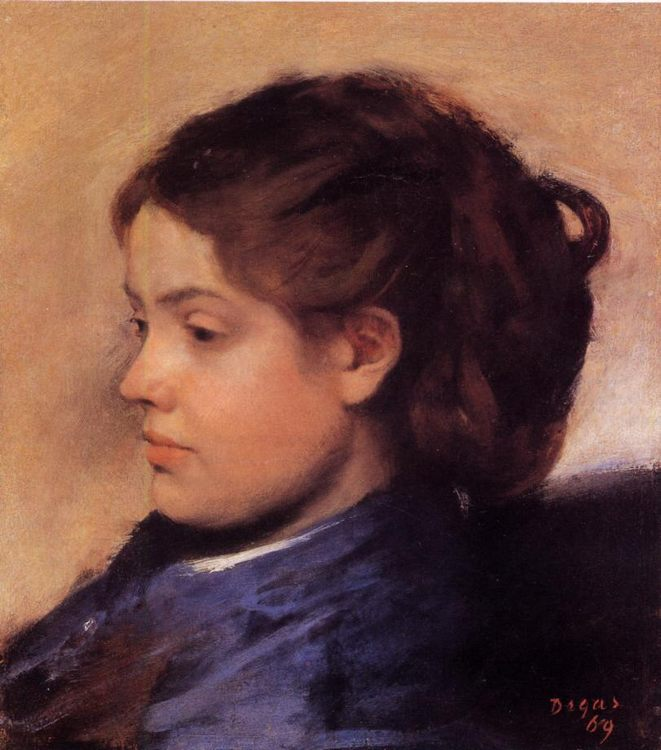 Emma Dobigny :: Edgar Degas  - 6 woman's portraits hall ( The middle of 19 centuries ) in art and painting фото
