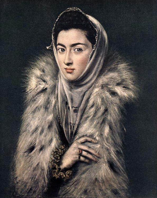 Lady with a Fur :: El Greco - 2 women portraits 16th century hall фото