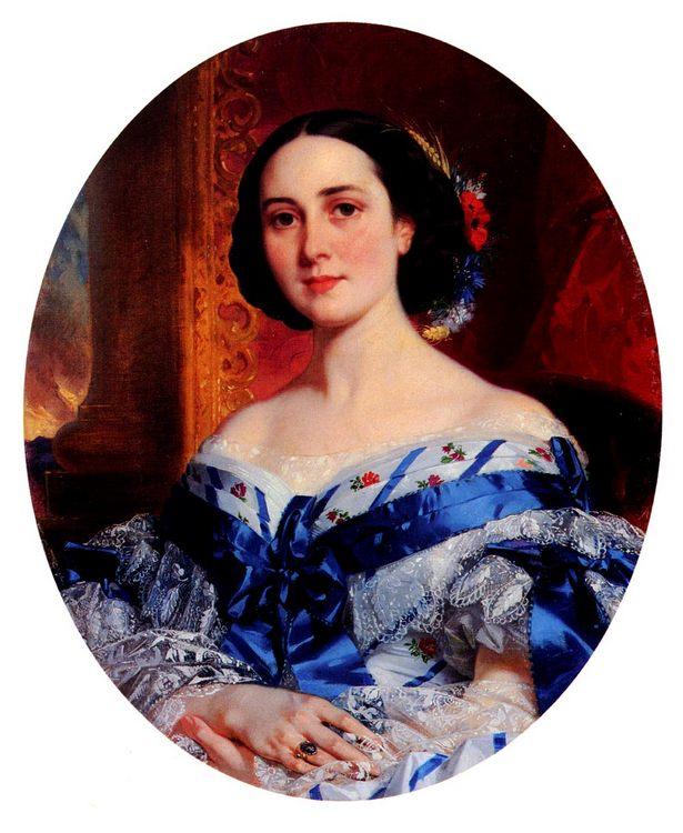 Portrait of Marie-Luche de Selle de Beauchamp - 6 woman's portraits hall ( The middle of 19 centuries ) in art and painting ôîòî