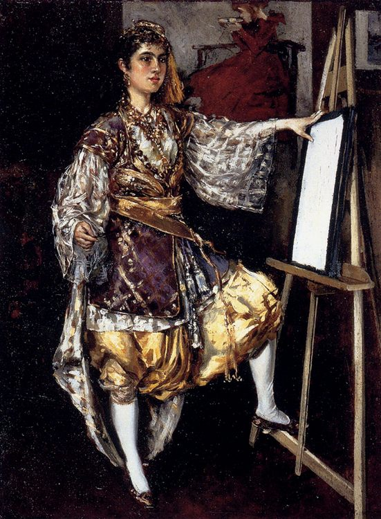 Jeune Artiste A Son Chevalet - 6 woman's portraits hall ( The middle of 19 centuries ) in art and painting фото