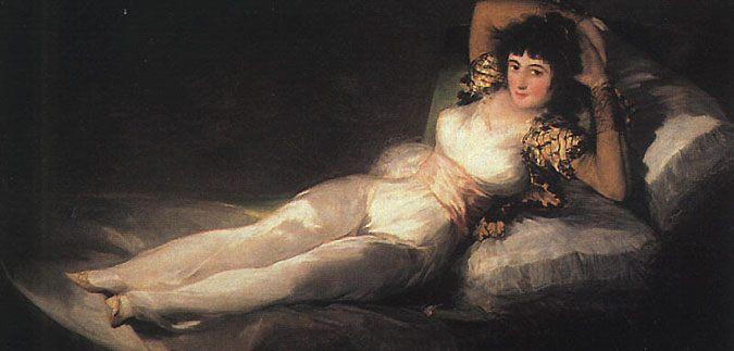 Clothed Maja :: Francisco de Goya - 5 women portraits ( the beginning of 19 centuries ) фото