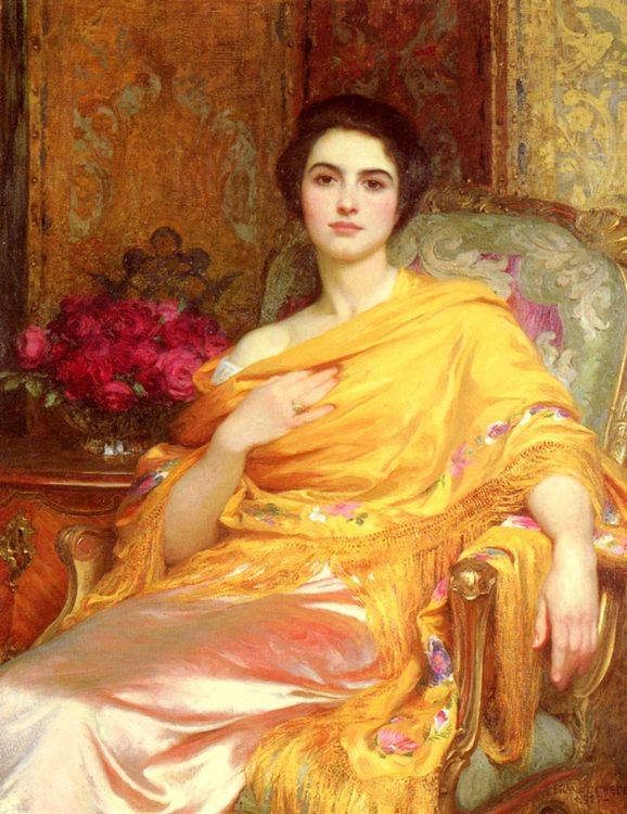 Portrait of Elsa :: Frank Dicksee - 7 female portraits ( the end of 19 centuries ) in art and painting ôîòî