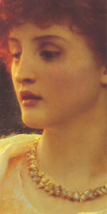 Sylvia [detail] :: Sir Frank Bernard Dicksee - Antique beauties in art and painting фото