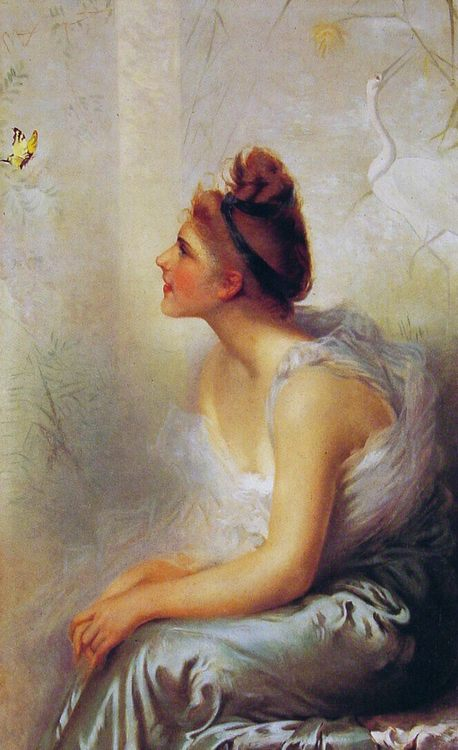 Beauty and the Butterfly :: Vittorio Matteo Corcos - 7 female portraits ( the end of 19 centuries ) in art and painting фото