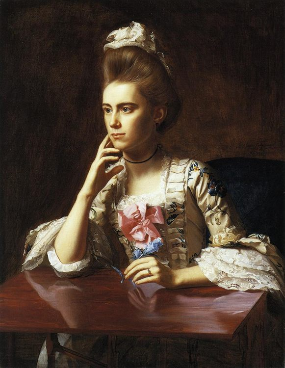 Mrs. Richard Skinner :: John Singleton Copley  - 4 women's portraits 18th century hall ôîòî
