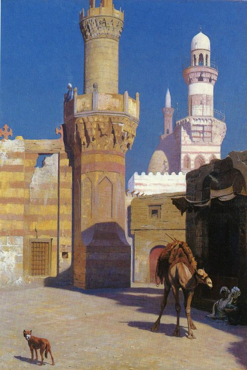 A Hot Day in Cairo (In front of the Mosque) :: Jean-Leon Gerome - scenes of Oriental life (Orientalism) in art and painting ôîòî