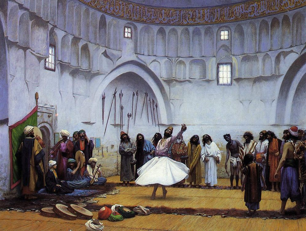 Whirling Dervishes :: Jean-Leon Gerome - scenes of Oriental life ( Orientalism) in art and painting фото