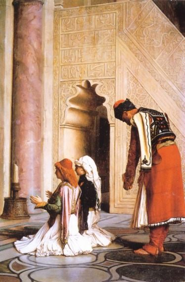 Young Greeks at the Mosque :: Jean-Leon Gerome - scenes of Oriental life ( Orientalism) in art and painting фото