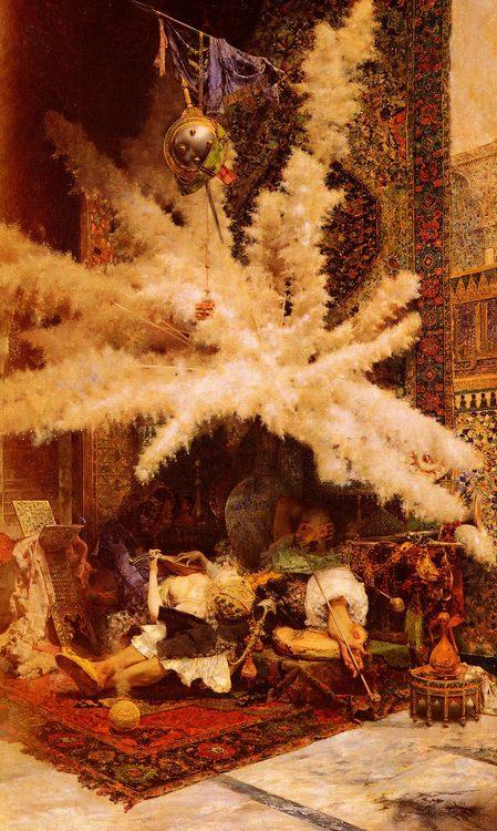 The Siesta :: Jose Villegas y Cordero - scenes of Oriental life ( Orientalism) in art and painting ôîòî