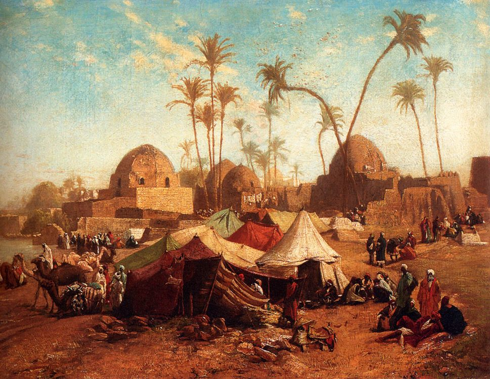 Bedouincamp :: Karl Wilhelm Gentz - scenes of Oriental life ( Orientalism) in art and painting фото
