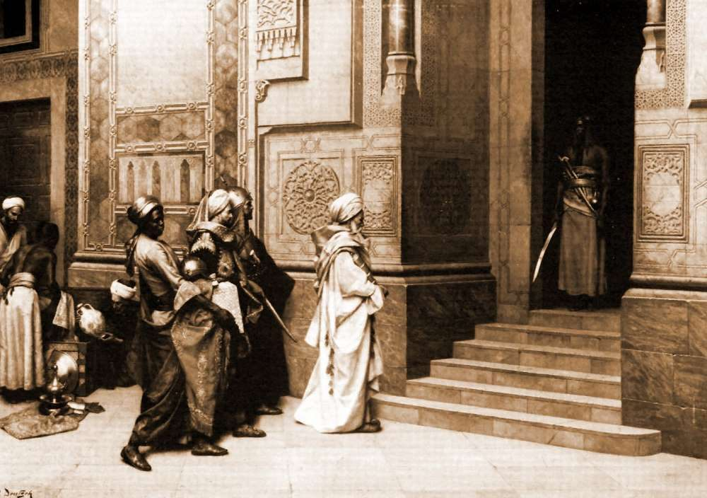 Outside the Palace :: Ludwig Deutsch - scenes of Oriental life ( Orientalism) in art and painting фото