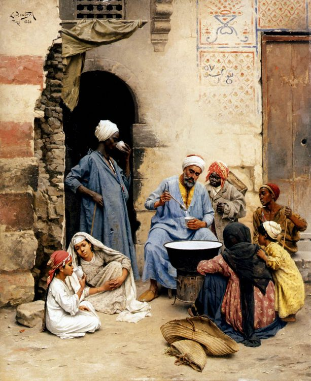 The sahleb vendor, Cairo :: Ludwig Deutsch - scenes of Oriental life ( Orientalism) in art and painting фото