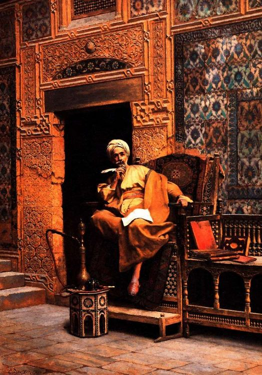 The Scribe :: Ludwig Deutsch - scenes of Oriental life (Orientalism) in art and painting ôîòî